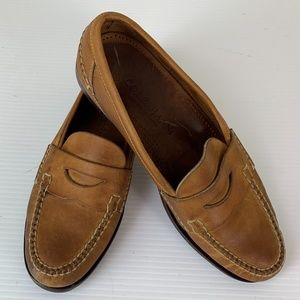 Cole Haan Mens 9.5 M Penny Loafers Brown Leather